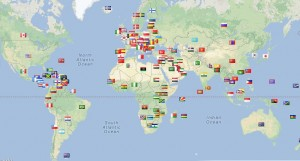 Compression Stockings & More has regular Visitors from 159 different Countries
