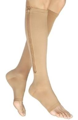 Knee-high Zipper Compression Stockings